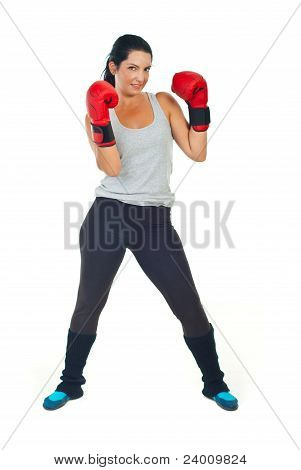 Powerful Boxer Woman