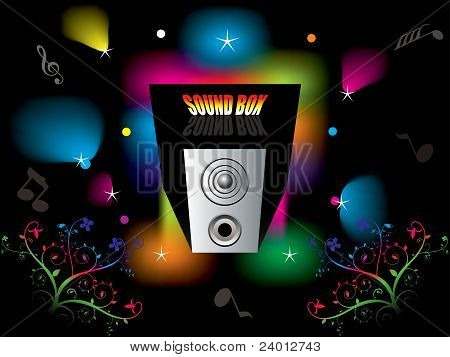 Abstract Colorful Sound Box