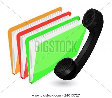 phone with folder