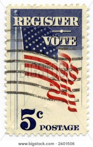 Register To Vote 1964 Stamp