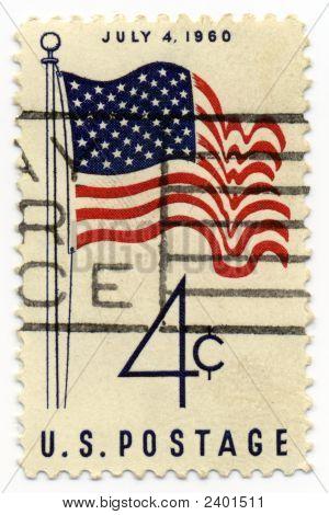 1960 4C Flag Stamp