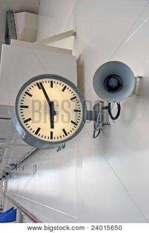 Clock And Megaphone
