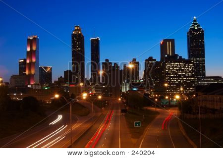 Night Scene Of Downtown Atlanta