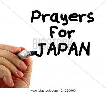 Japan Prayers Text Writing Message