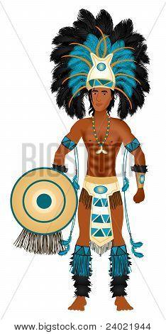Aztekische Karneval Kostüm