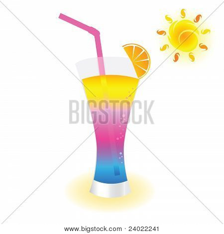 Cold Drink To Refresh Vector Illustration