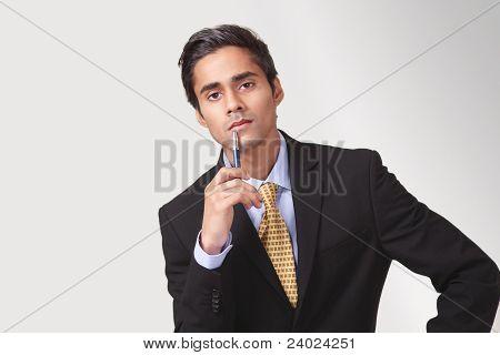 Attentive listening man