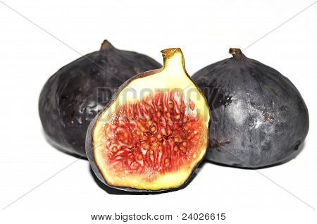 fig closeup isolated on white background