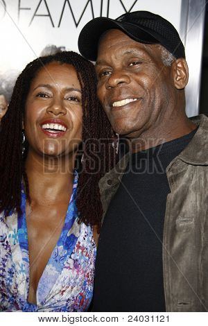LOS ANGELES - APR 12: Danny Glover and wife at the World Premiere of 'Death At A Funeral' held at the Arclight Theater in Los Angeles, California on April 12, 2010