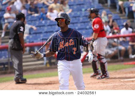 Binghamton Mets batter Jordany Valdespin