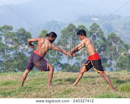 Indian Fighters Performing Adithada hand