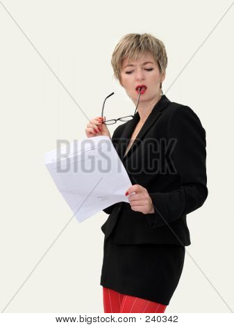 Businesswoman With A Paper 1