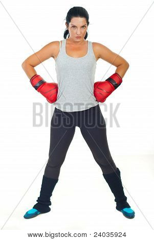 Serious Boxer Woman