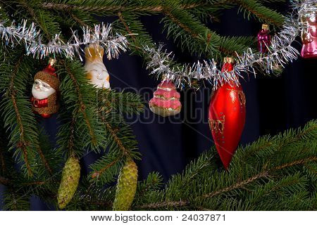 Christmas Fir Tree With Colorful Lights