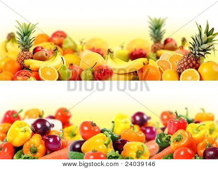 splendid vegetable and fruit composition high quality