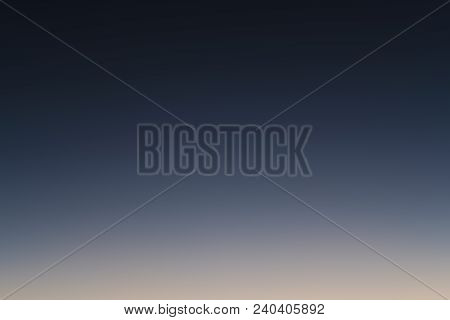 Summer Sky After Sunset Gradient From Blue To Orange Poster Id
