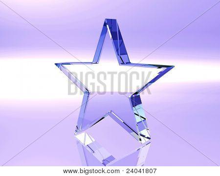 beautiful logotype on blue background