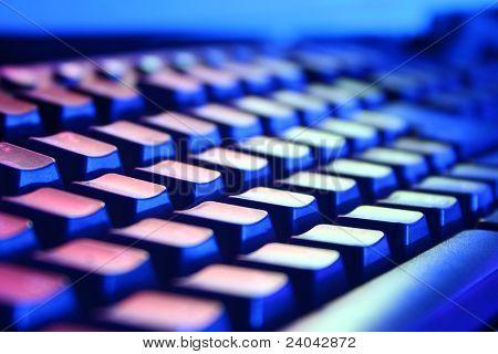 Keyboard closeup view