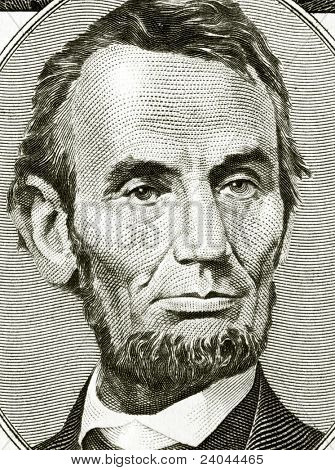 High definition Lincoln portrait from 50 dollars banknote