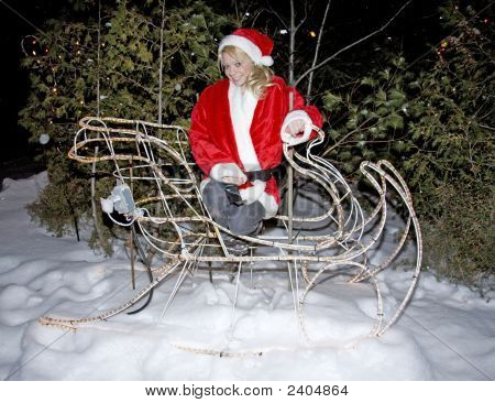 Angel On Christmas Sliegh