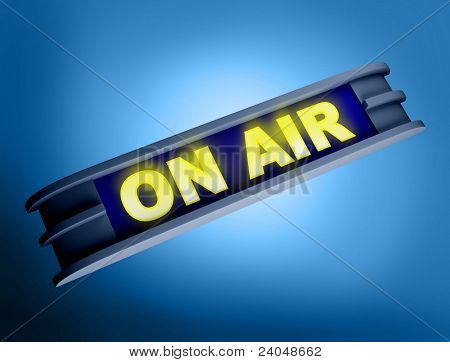 Big bright ON AIR signs for your theater, broadcasting studio, website, banner ad, and music needs.