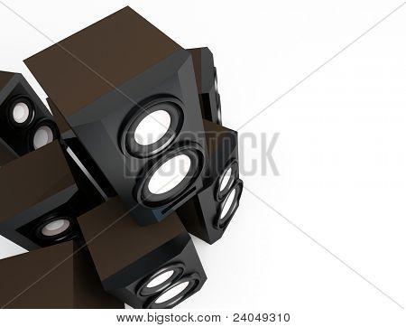speaker, loudspeaker, woofer, speakerbox, subwoofer