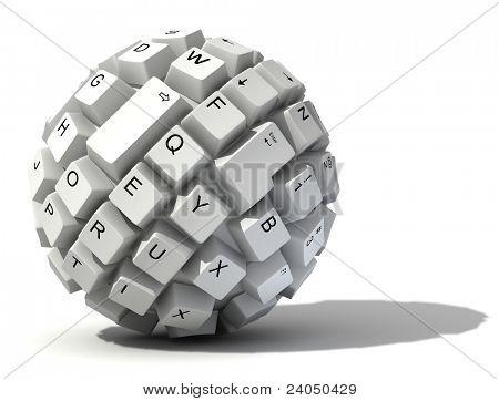 抽象键盘球