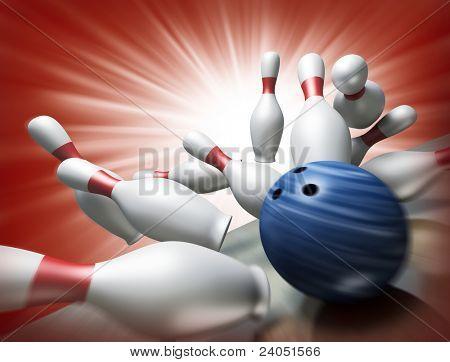 3D Render ein Bowling