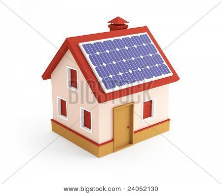 3d house on a white background