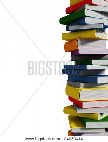 white book isolated on white