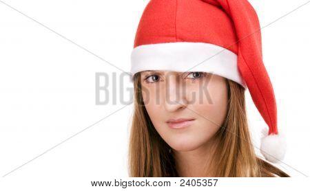 Menina de chapéu de Santas