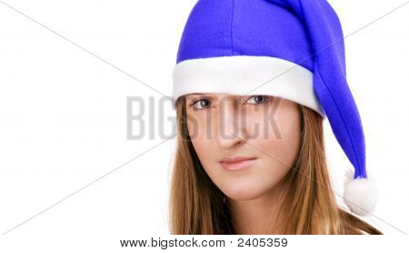 Girl In Santas Hat