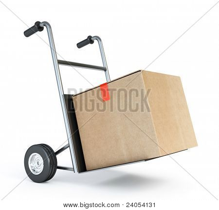 barrow truck and carton box