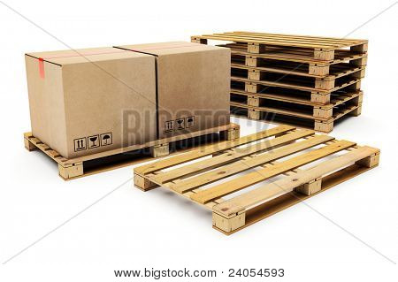 wooden shipping pallet