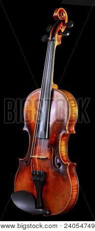 Jahrgang Violine auf schwarzem Hintergrund