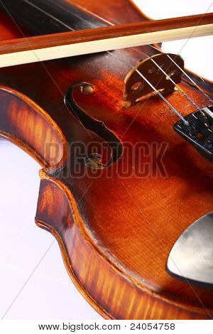 beautiful wooden cello isolated
