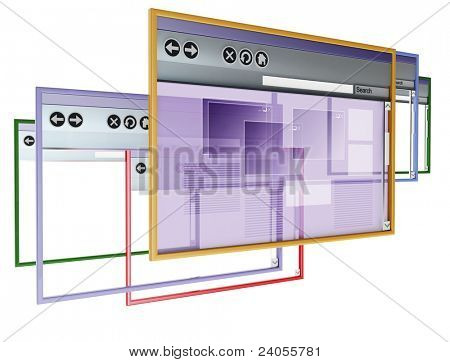 3d image on white background