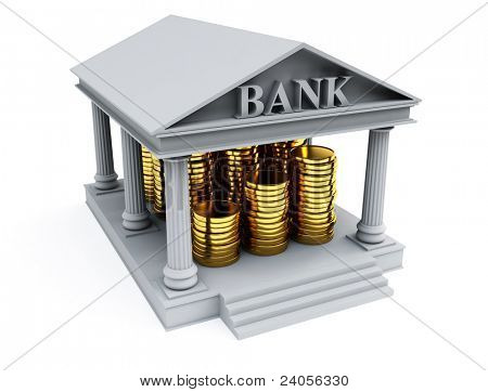 Bank 3d render