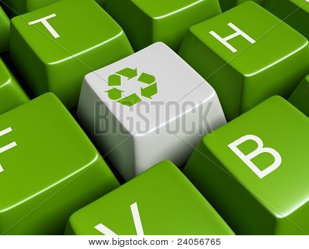 Green recycling keyboard