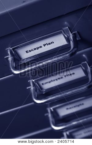 Escape Plan Filing Cabinet