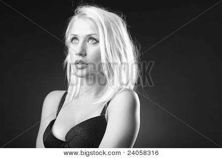 Blonde Model In A Romantic Mood