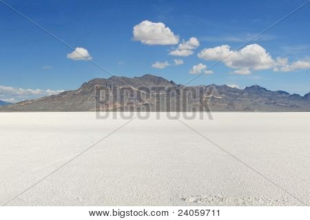 Across the Bonneville Salt Flats