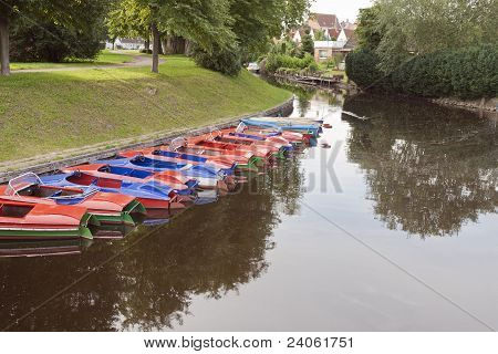 Small Boats In The Canal