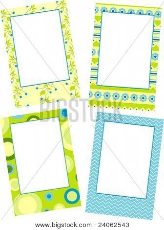 Template photo frames, vector illustration