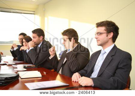 Business People At The Debate
