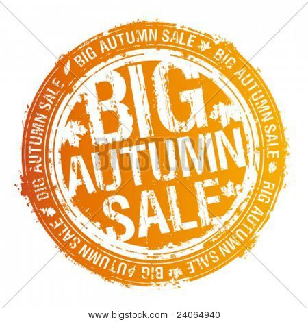Big autumn sale rubber stamp.