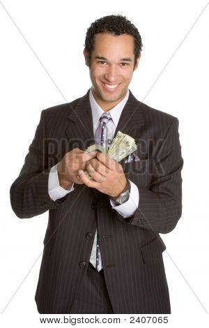 Kaufmann mit Geld