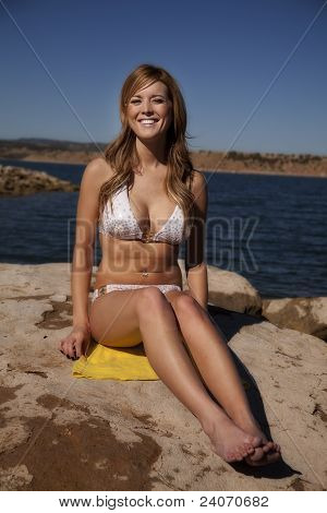 Swimsuit Woman Facing