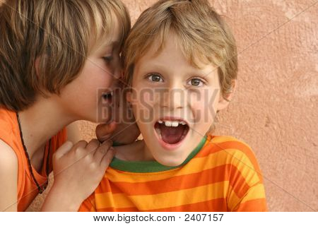 Children Whispering Secrets