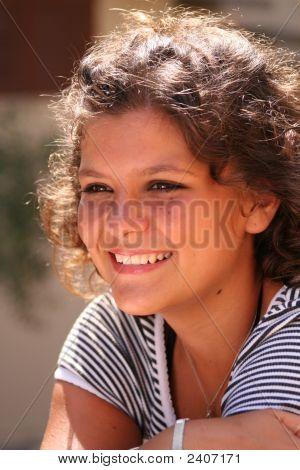 Happy Smiling Teen, Beautiful Girl